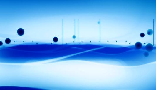 开场蓝色水墨LED舞台背景视频素材
