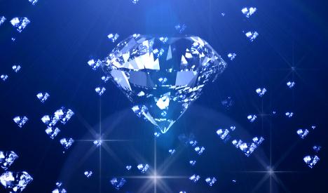 蓝色钻石光线闪闪发光LED视频素材