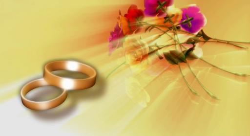 戒指与花朵LED视频素材