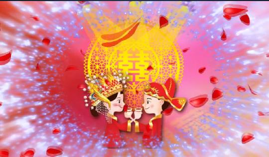 中式婚礼交杯酒LED视频素材