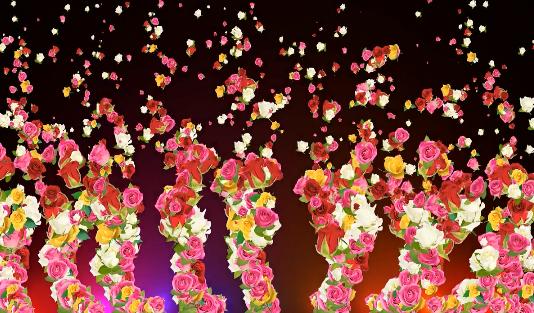 花朵飞舞粒子LED视频素材