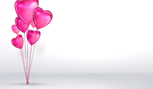 粉红色的心球LED视频素材