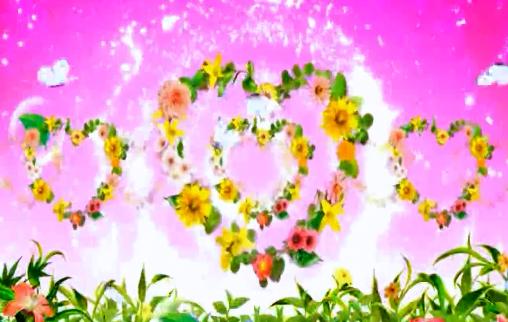 唯美花束爱心LED视频素材