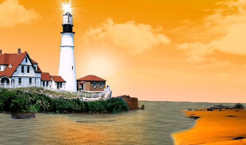 海角灯台爱情故事视频素材