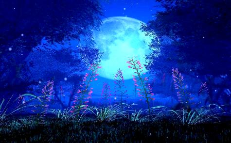 蓝色月亮LED视频素材