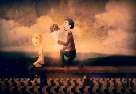 动漫爱情动画LED舞台背景视频素材