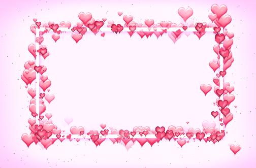 方块粉红色爱心LED视频素材