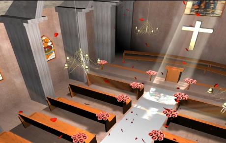婚礼教堂LED视频素材