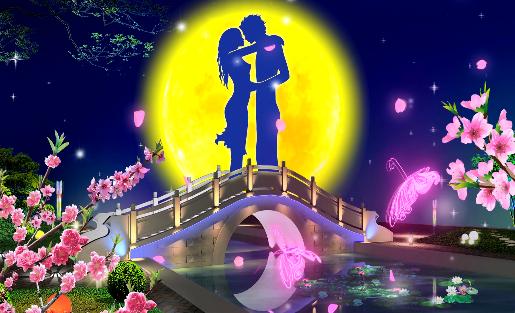 浪漫七夕情人节高清视频素材