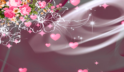 爱心七彩花LED舞台背景视频素材