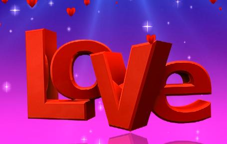 love心形爱心LED视频背景素材