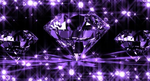 紫色闪亮钻石高贵典雅婚礼LED视频素材