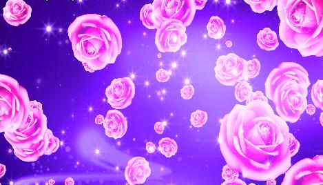 唯美紫色玫瑰花花朵粒子光线LED视频素材