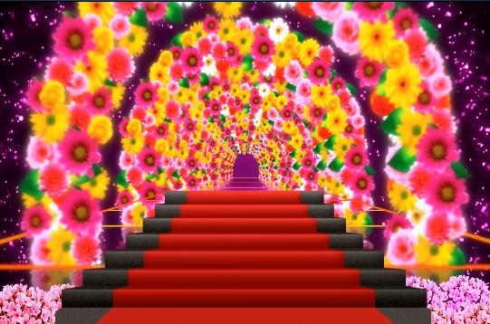 无限循环绚丽花束拱门LED婚礼视频素材