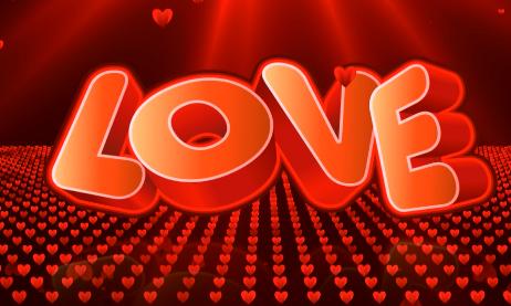 love爱心心形光线婚礼情人节视频素材