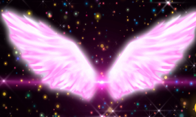 唯美天使翅膀LED视频素材