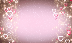 唯美爱心婚庆背景视频素材