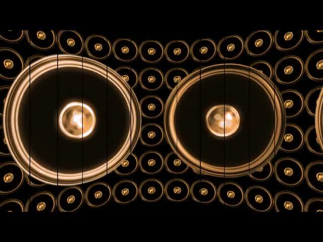 动感 喇叭 节奏 阵列 视频素材