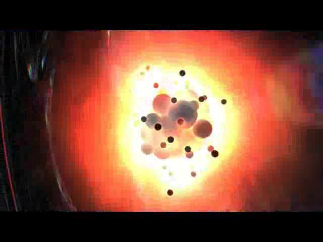 动感火球粒子 视频素材