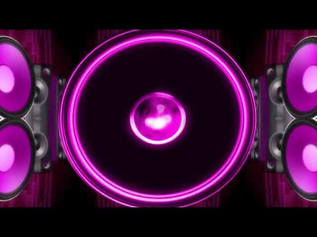 喇叭紫色背景 视频素材