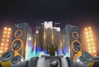 动感舞台背景 视频素材