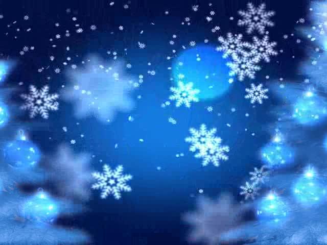 雪花夜景爱情LED视频素材
