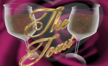 双酒杯爱情LED视频素材