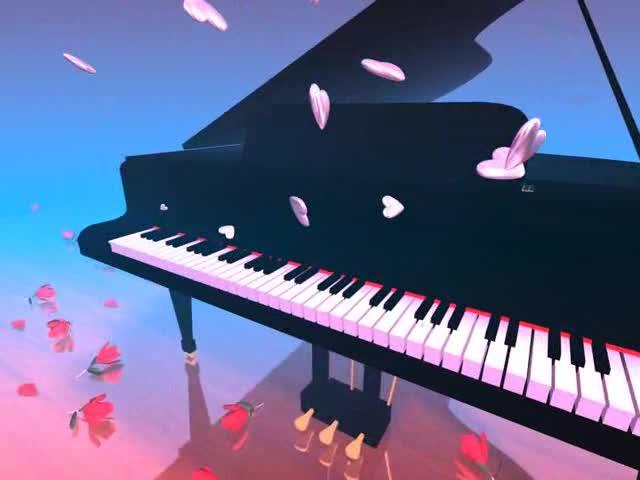 唯美钢琴伴奏LED视频素材
