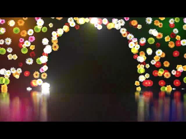 移动花束拱形门LED视频素材