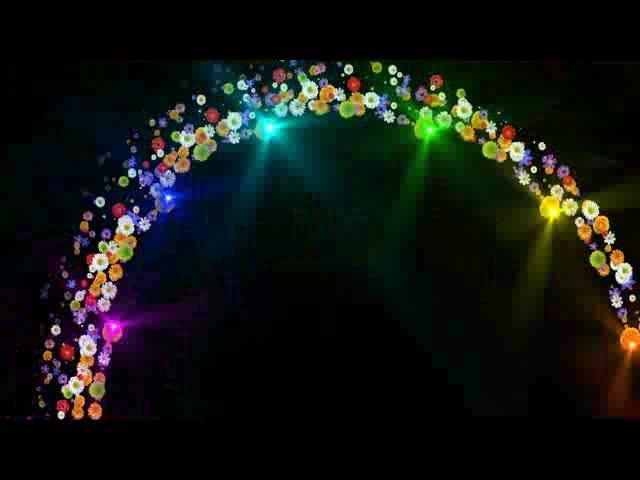 超炫花束粒子拱形门LED视频素材