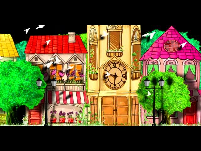 浪漫卡通动画四季爱情LED视频素材