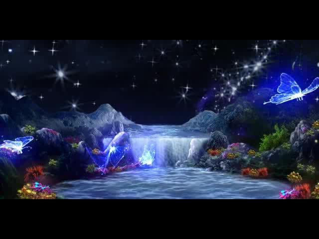 星星闪闪瀑布流水LED视频素材