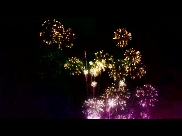 夜晚夜空好看的烟花绽放LED视频素材