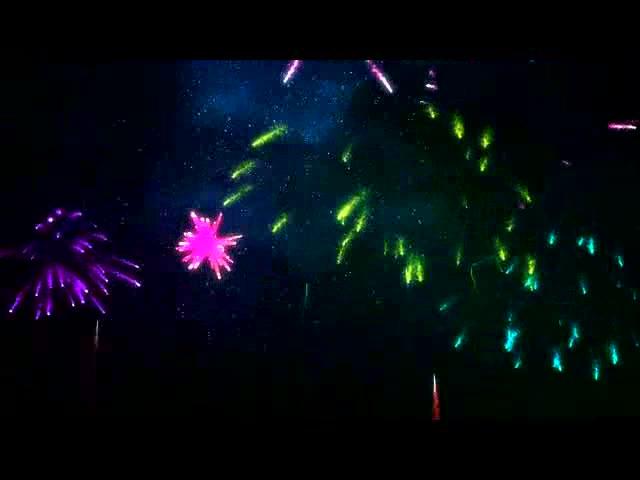 五彩烟花升空LED视频素材