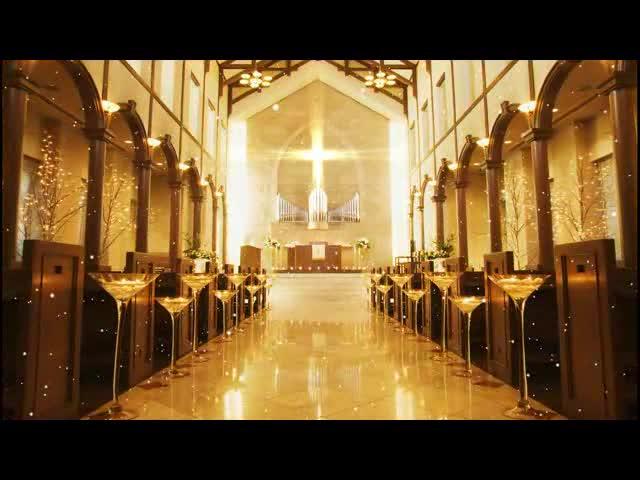 温馨教堂爱情LED视频素材