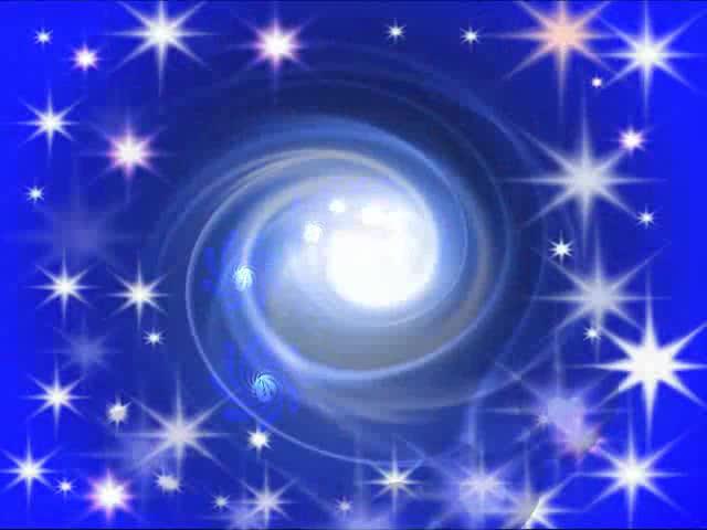 蓝色星星漩涡LED视频素材