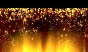 金色星星飘落LED视频素材