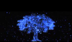 梦幻蝴蝶围绕树飞舞LED舞台背景视频素材