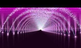 水珠拱形门移动LED视频素材
