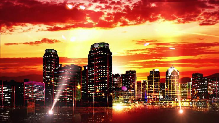 大气城市夜景视频素材