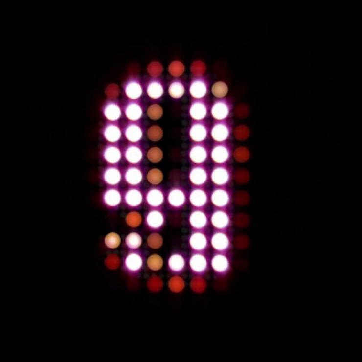 创意抽象倒计时LED视频素材
