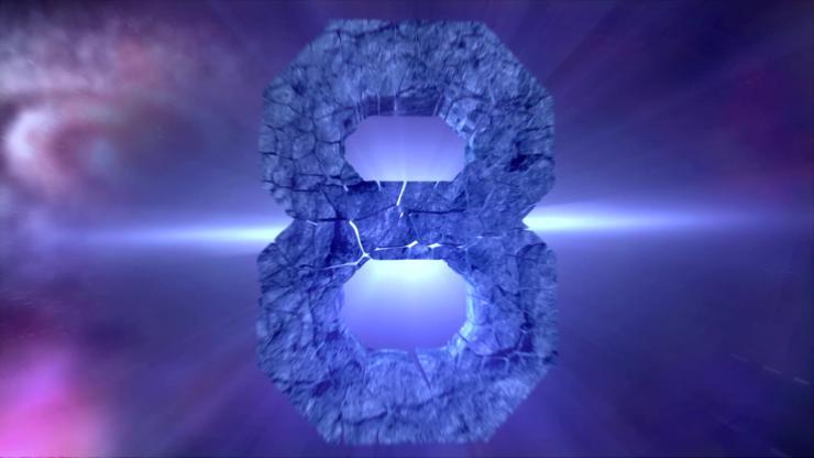宇宙陨石倒计时视频素材
