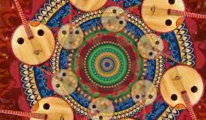月琴民族乐器 视频素材