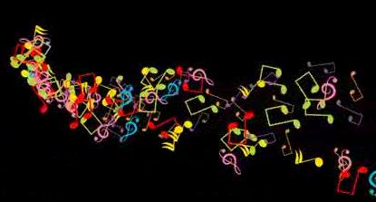 音乐符号飘散 视频素材
