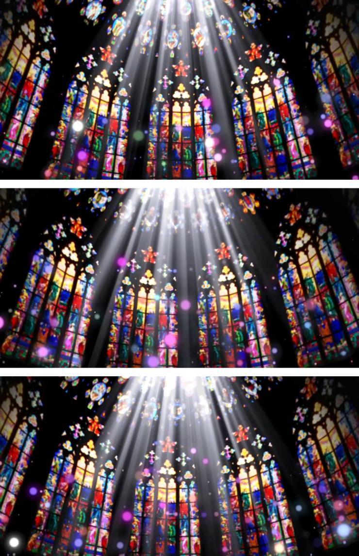教堂花窗类LED视频素材