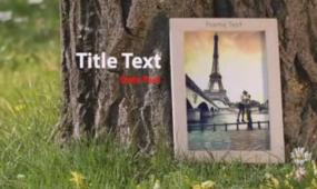 AE相册公园实景拍摄 含音乐视频模板