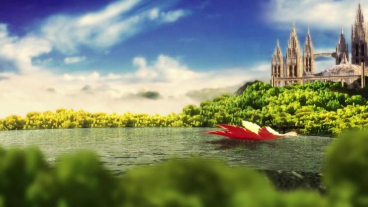 唯美风景仙境城堡视频素材