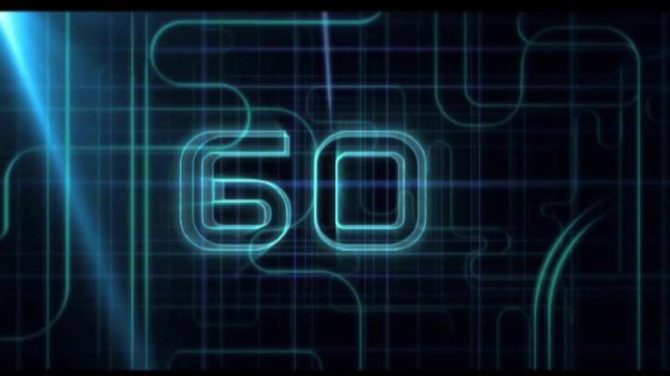 60秒光束倒计时视频素材