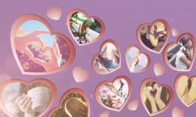 我们的快乐时光爱心婚礼相册 含音乐视频模板