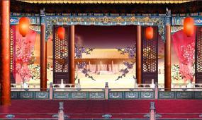 戏曲古戏台古典中国风视频素材
